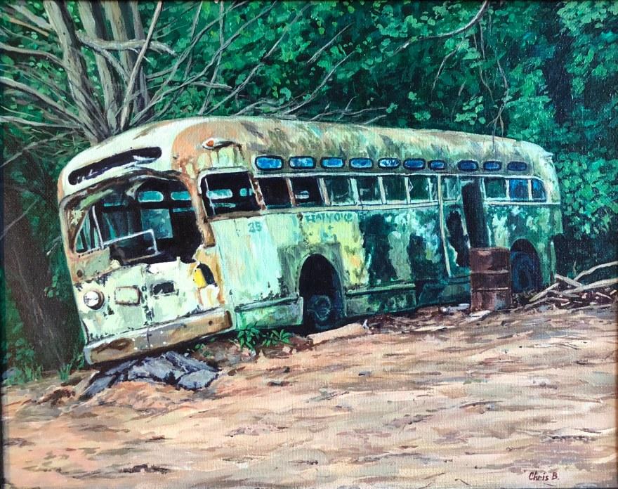 """Holyoke #35 11""""x14"""" acrylic on canvas 9/18"""