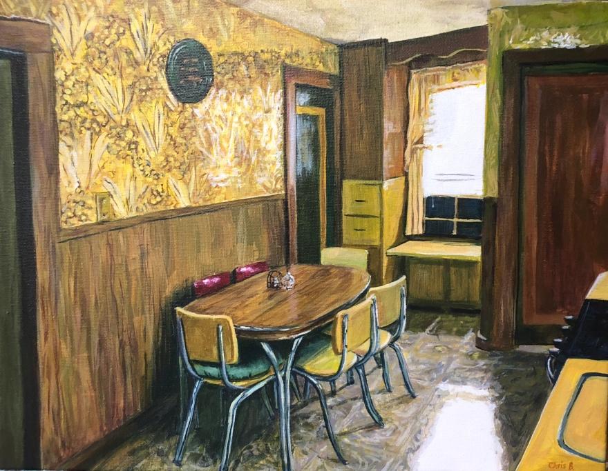 "Nana's Kitchen 11""x14"" acrylic on canvas 10/18"