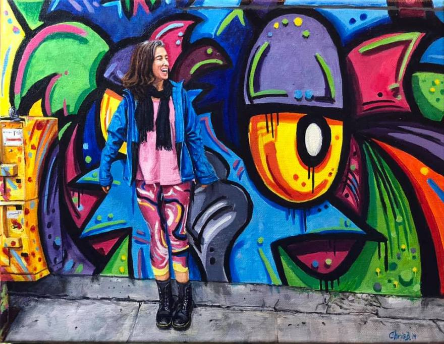 "Andrea - Acrylic on canvas 11""x14"" 1/19"