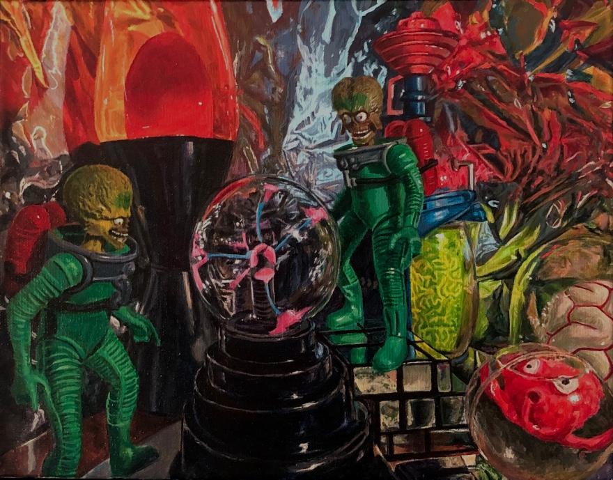 "Martians - acrylic on canvas 11""x14"" 1/19"