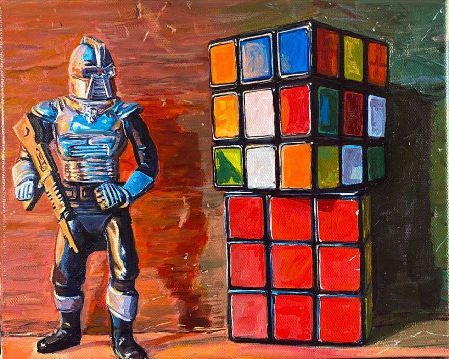 Cylon with Rubik's Cubes