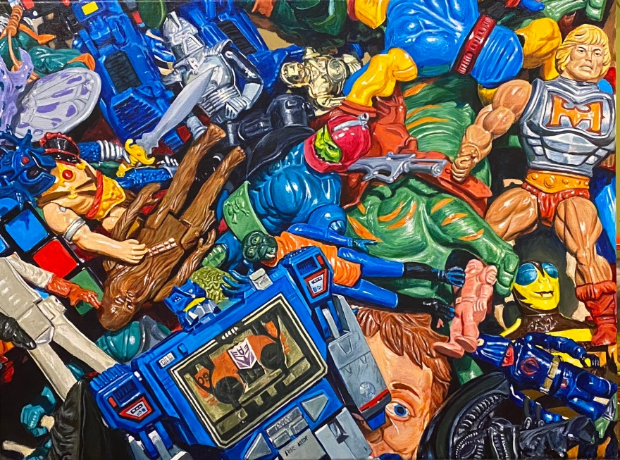 "Toy Chest 18""x24"" acrylic on canvas"