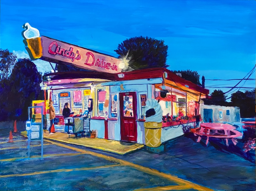 """Cindy's Drive-in 12""""x16"""""""